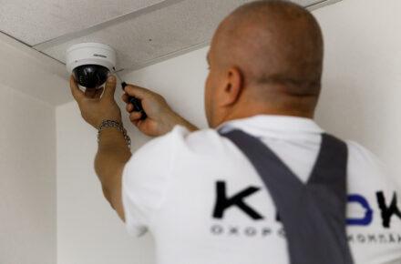 Установка видеонаблюдения охранная компания КРОК